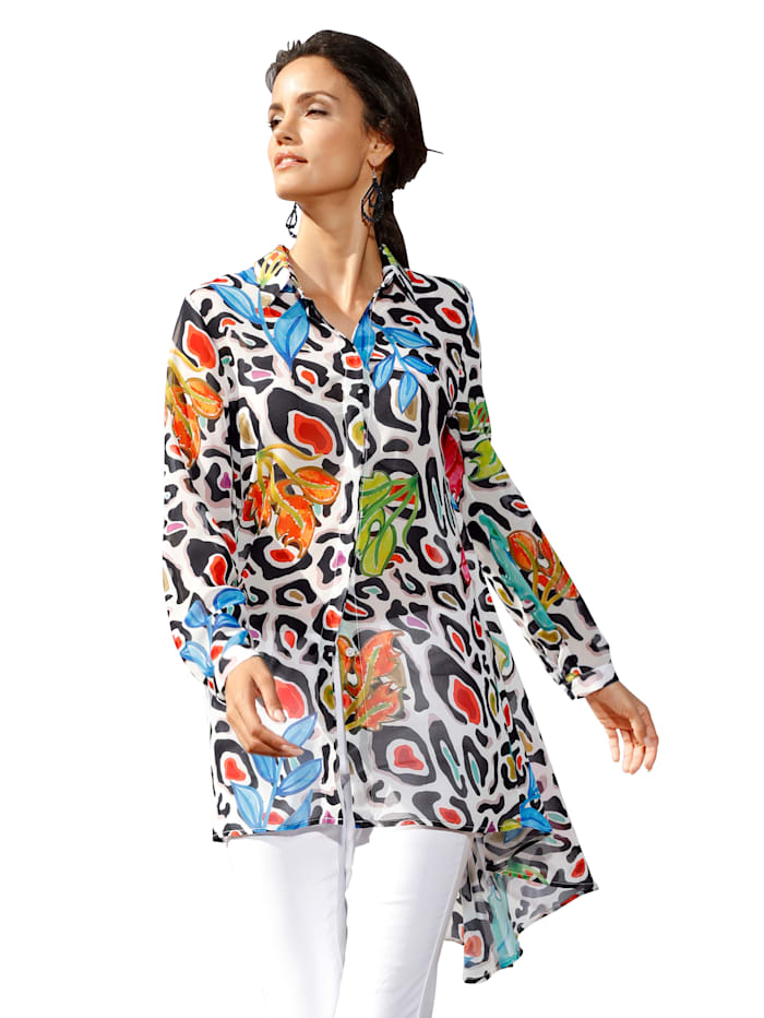 AMY VERMONT Longbluse mit Print-Mix, Multicolor
