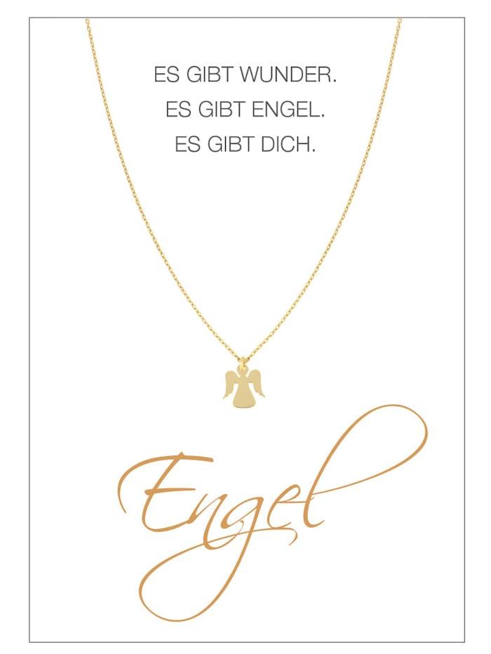 Herzkarte Engel-Collier, Gelb