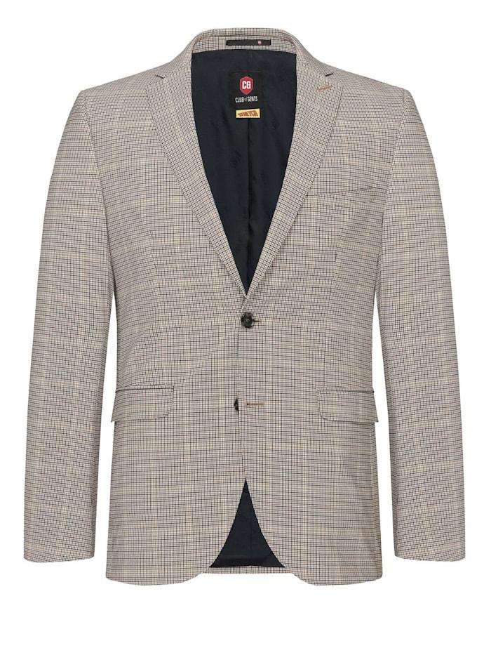 Club of Gents Stretch Anzug-Sakko CG Colvin, beige