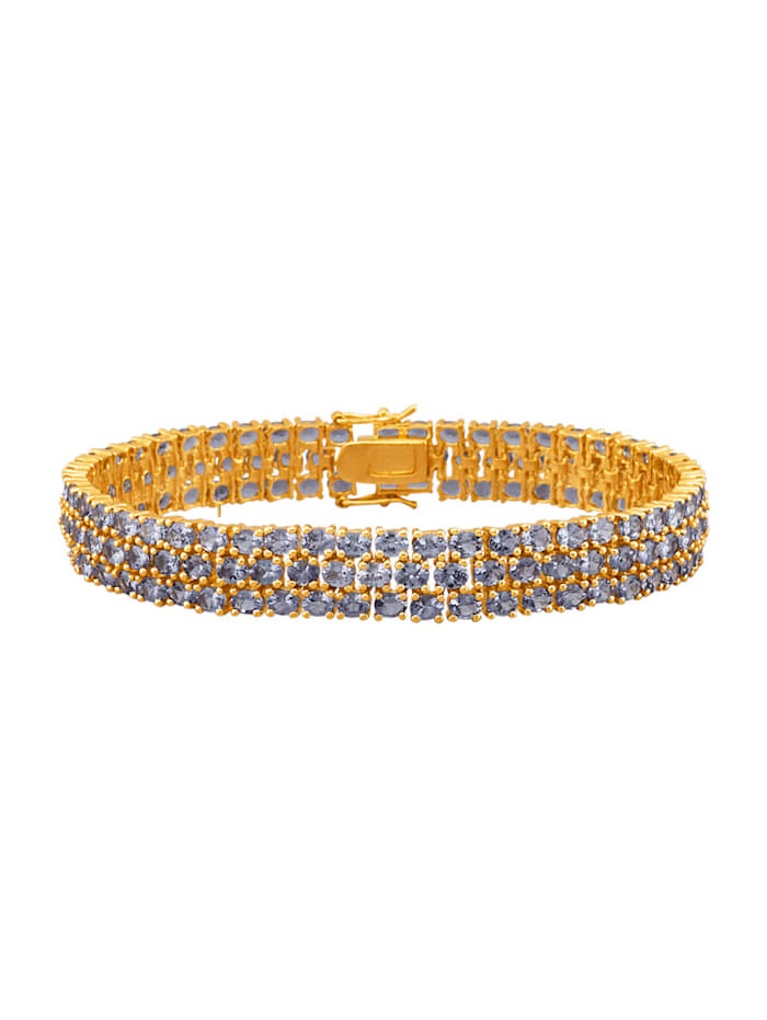 Diemer Farbstein Armband van echt zilver, Blauw