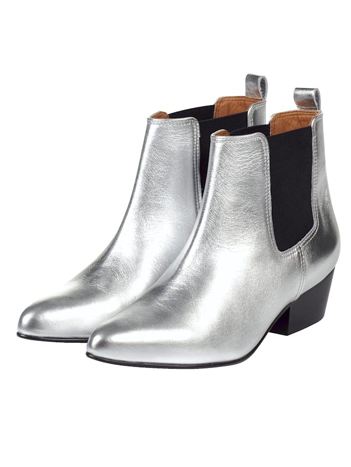 SIENNA Stiefelette, Silberfarben