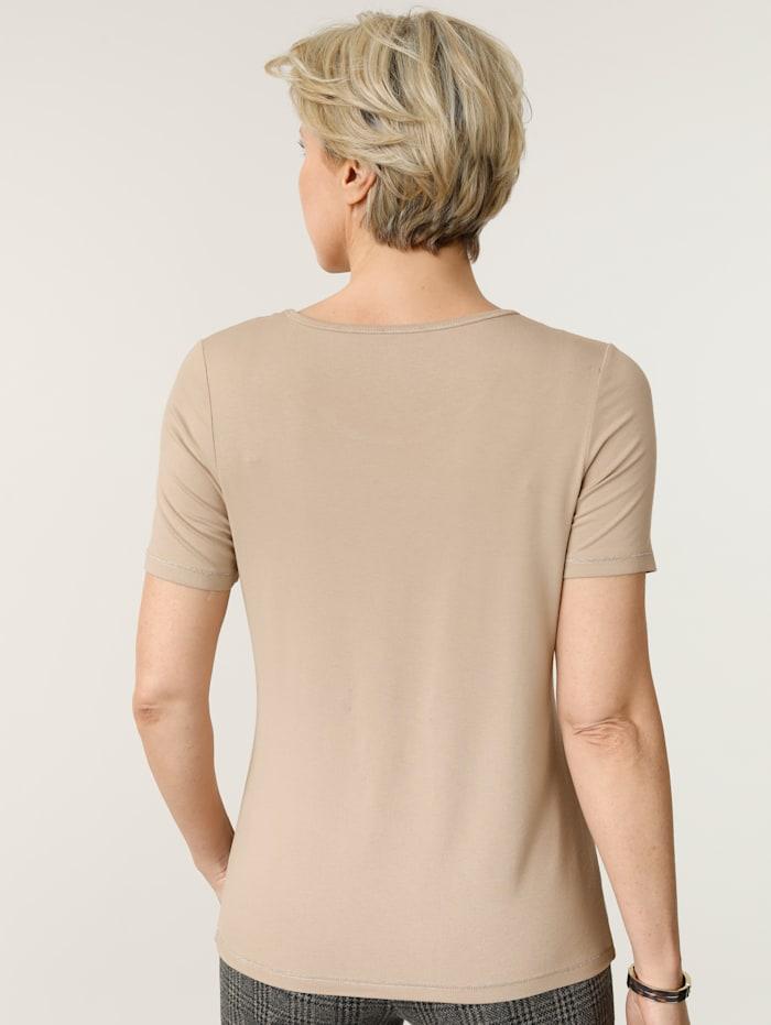 T-shirt avec strass scintillants