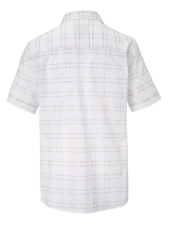 Chemise à motif à carreaux tendance