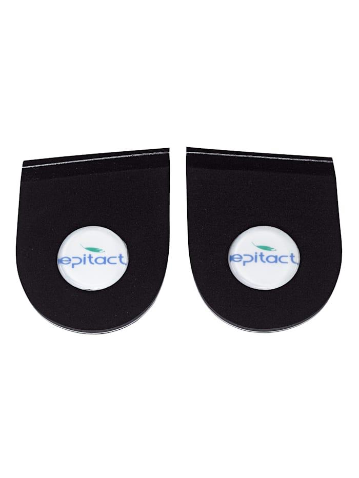 epitact Coussinets pour talons - 1 paire, noir
