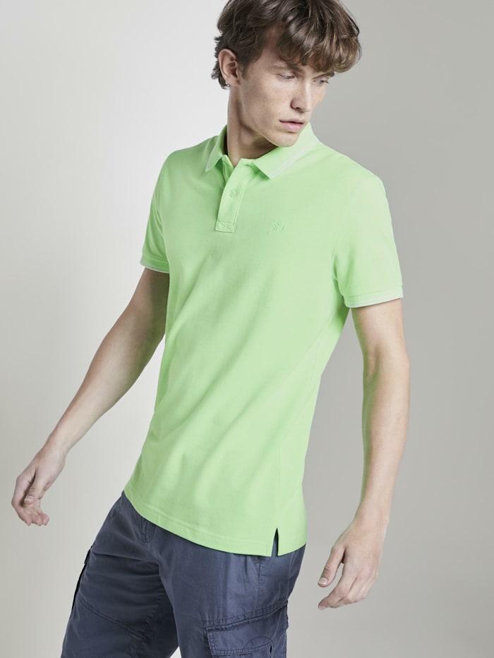 Tom Tailor Denim Strukturiertes Poloshirt, lime green
