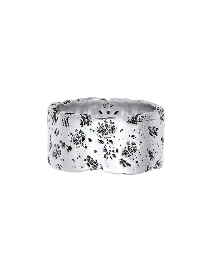 Ring Herren Bandring Rustikal Robuster Look  925 Silber