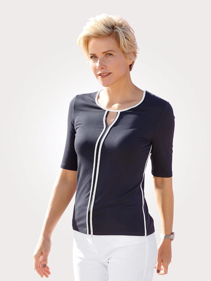 Barbara Lebek Shirt, Marineblau/Weiß