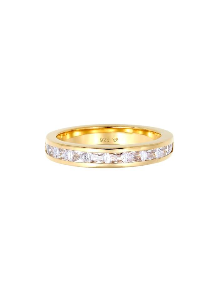 Ring Bandring Baguette Zirkonia Kristalle 925 Silber