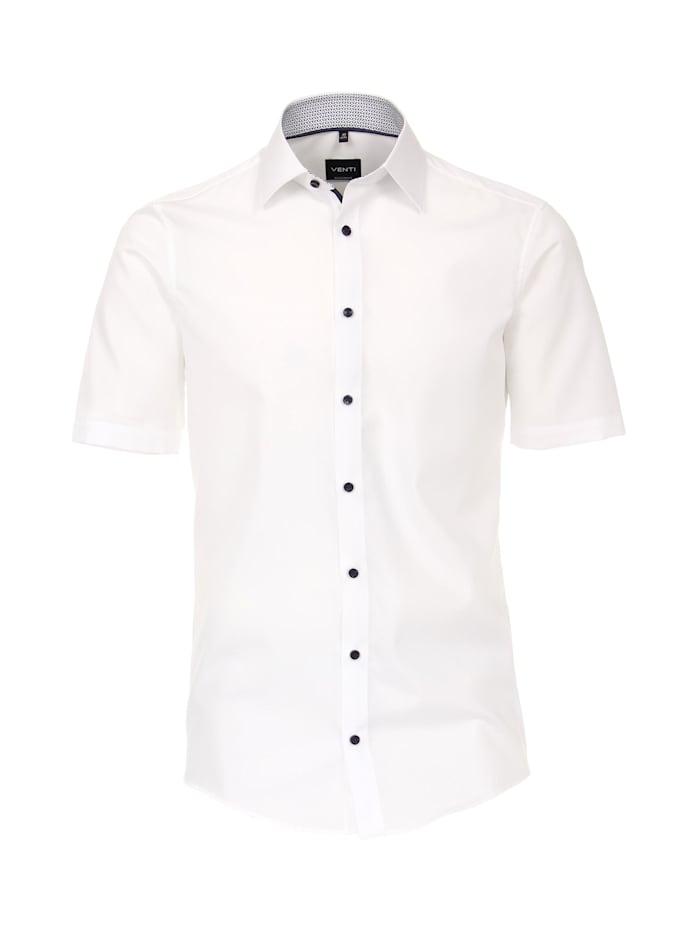 Venti Hemd Halbarm uni Modern Fit, Weiß