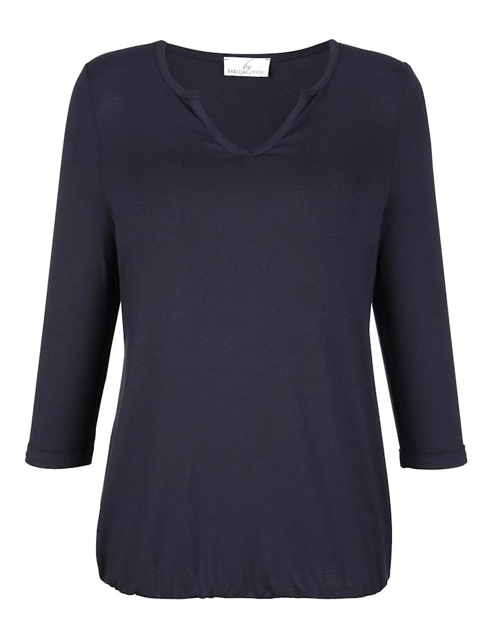 Shirt in angesagtem Material-Mix