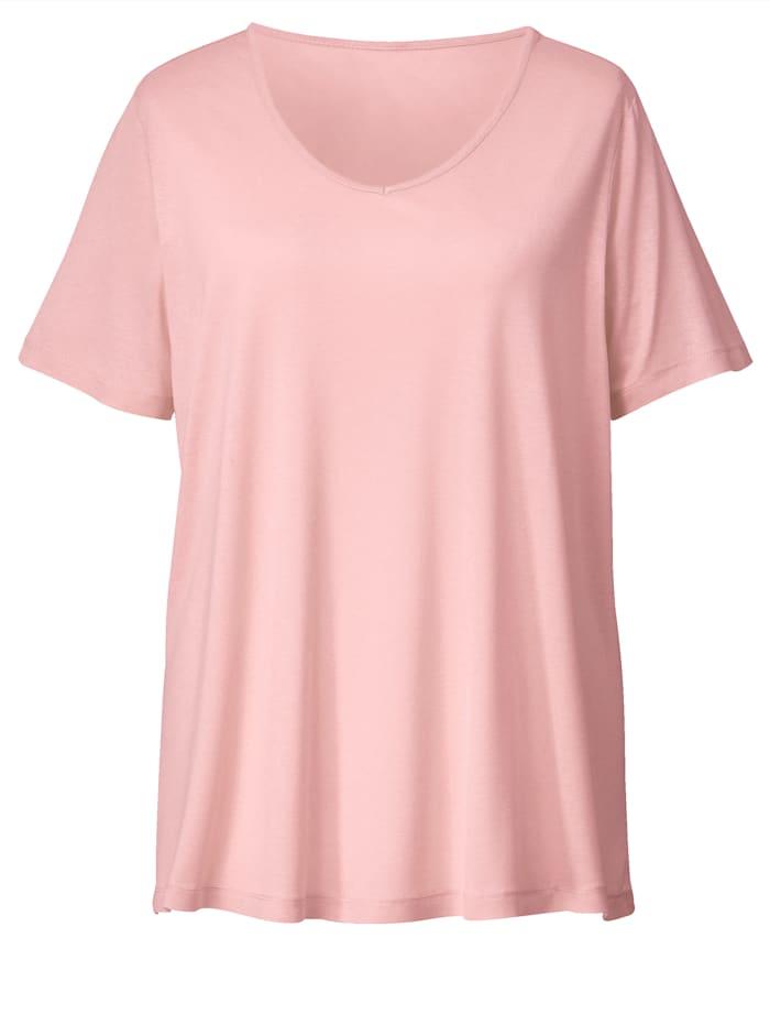 Janet & Joyce Shirt van zuivere viscose, Roze
