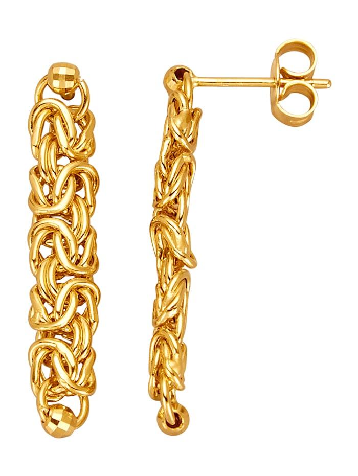 Diemer Gold Kultakorvakorut kuningasketjua, Keltakullanvärinen