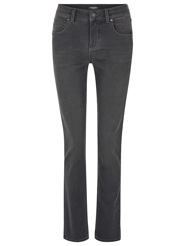 Angels Jeans 'Cici' in Coloured Denim, anthracite used buffi crinkle