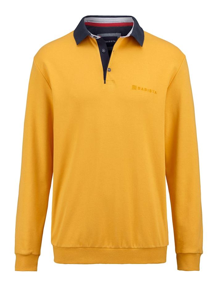 BABISTA Sweatshirt mit sportivem Polokragen, Maisgelb