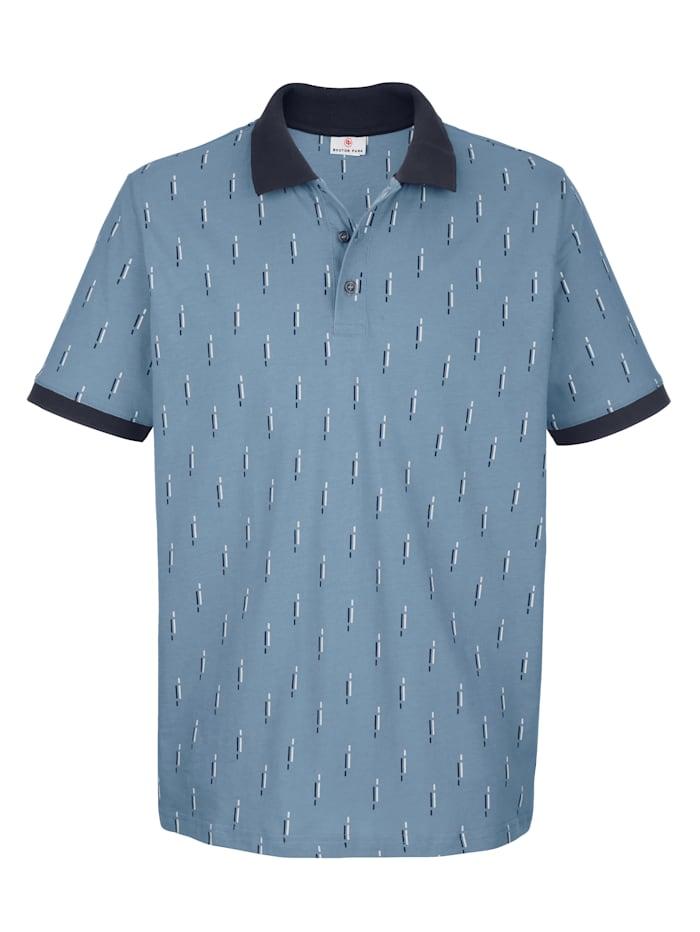Boston Park Poloshirt mit Druckmusterung, Blau