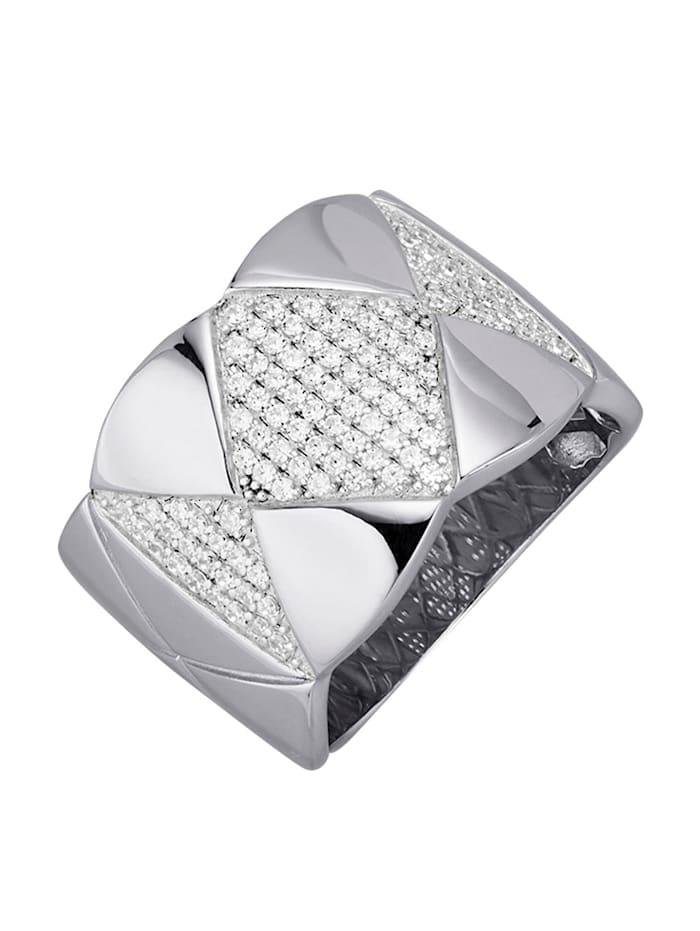 Amara Trend Damenring in Silber 925, Silberfarben