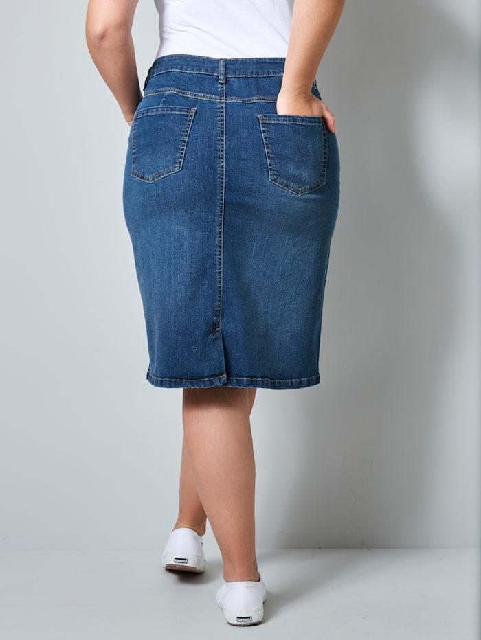 Jeanskjol i klassisk 5-ficksmodell