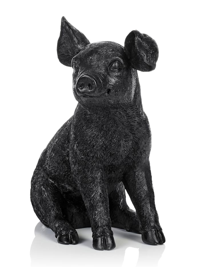 IMPRESSIONEN living Figurine Cochon, Noir