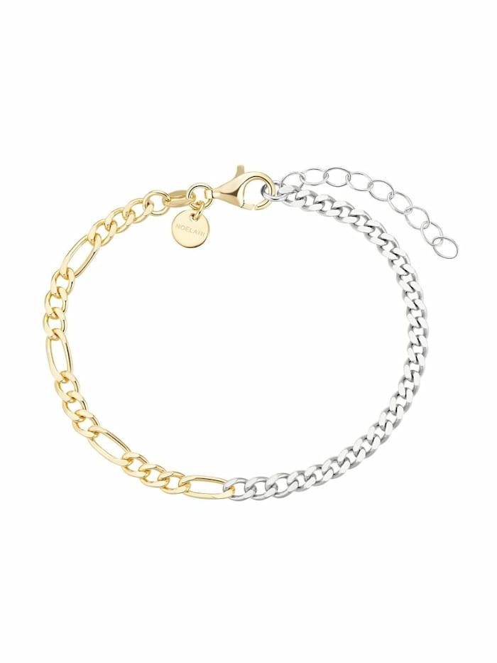 Armband für Damen, Sterling Silber 925 teil-vergoldet