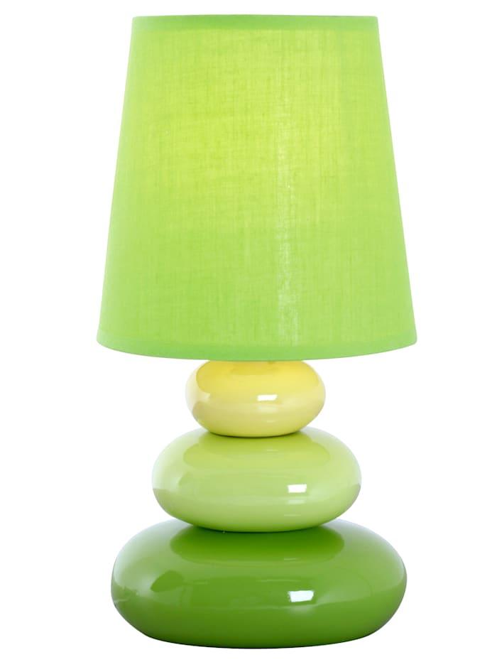 Näve Bordslampa med rundade former, Grön