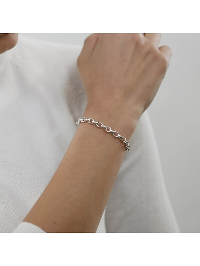 Armband 925 Silber Erbsmuster