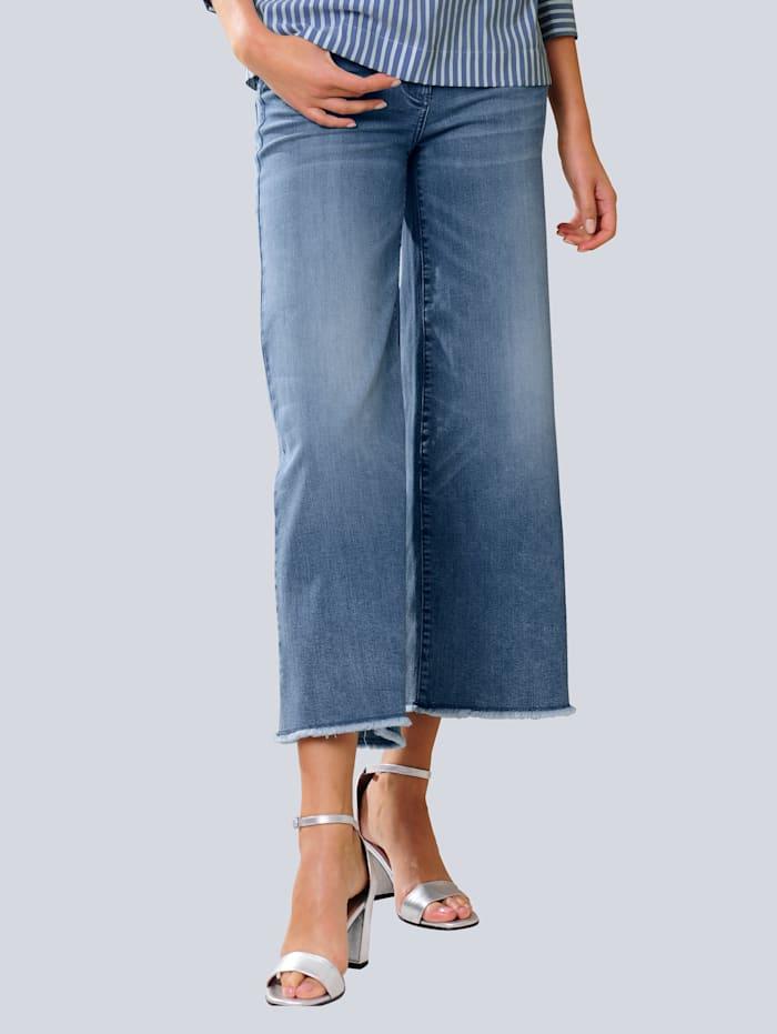 Alba Moda Jeans med vidare ben, Blue bleached