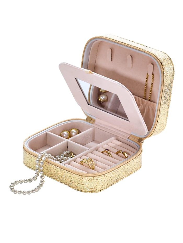 Schmuckbox mit Goldglitzer