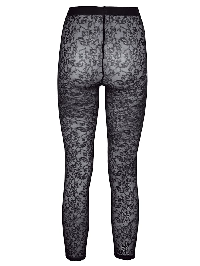 Legging in modischer Spitzenoptik