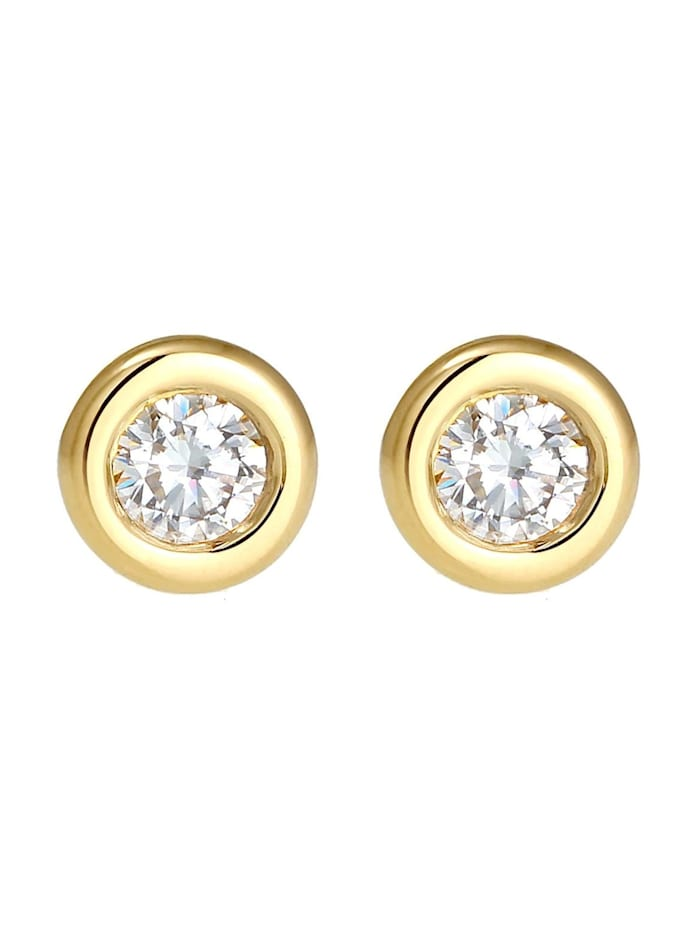 Ohrringe Swarovski® Created Diamond (0.34 Ct.) 585 Gelbgold