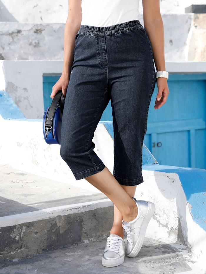MIAMODA Capribroek met elastische band, Dark blue