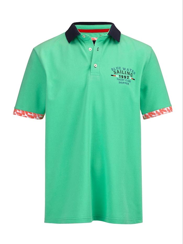 BABISTA Poloshirt met modieus contrast, Mint