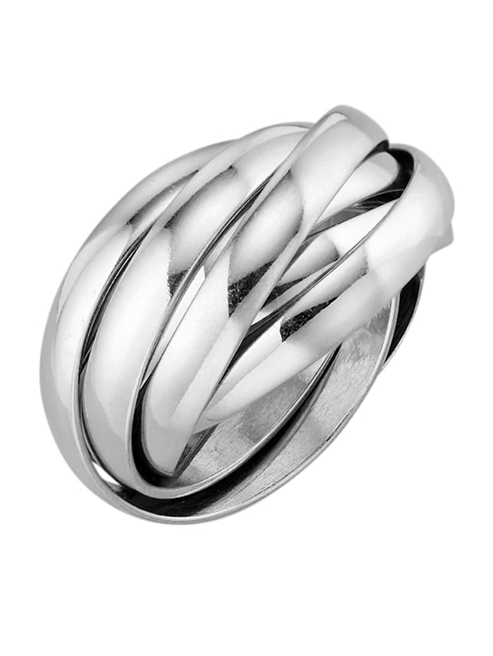 AMY VERMONT Damenring, Silberfarben