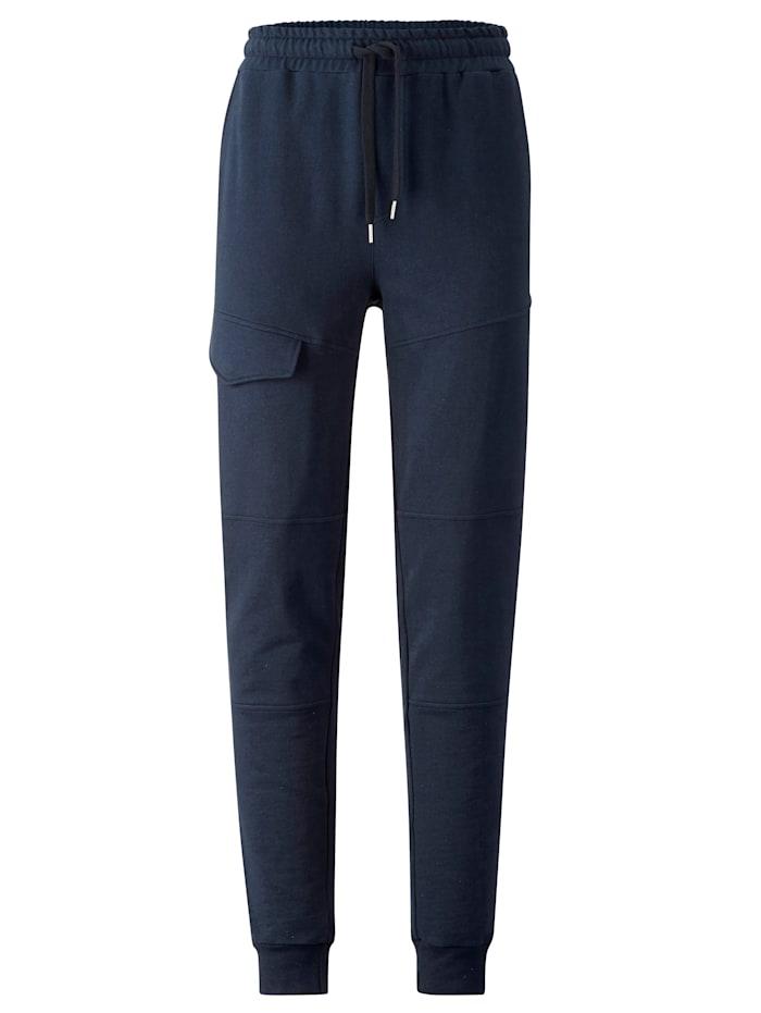 Men Plus Jogginghose aus reiner Baumwolle, Marineblau