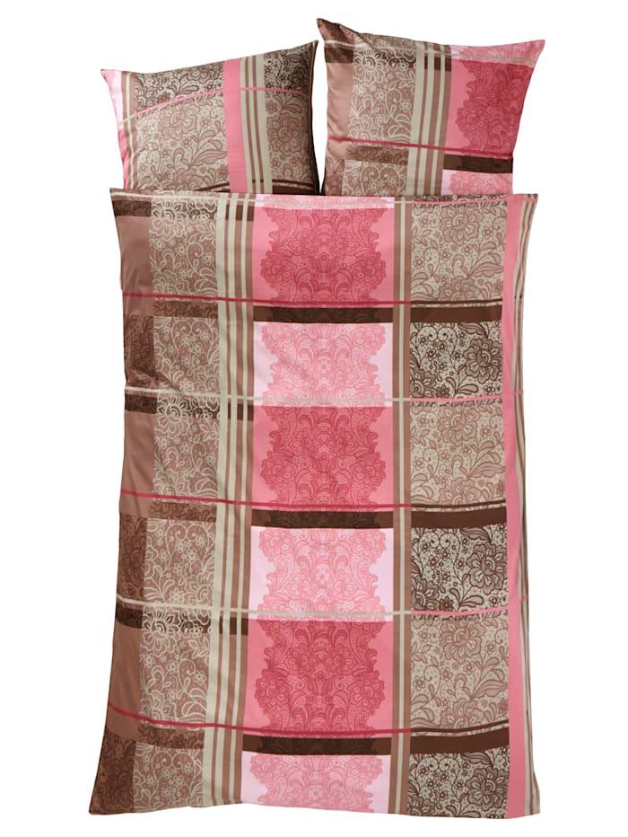 Webschatz 2-delige set bedlinnen Josephine, roze