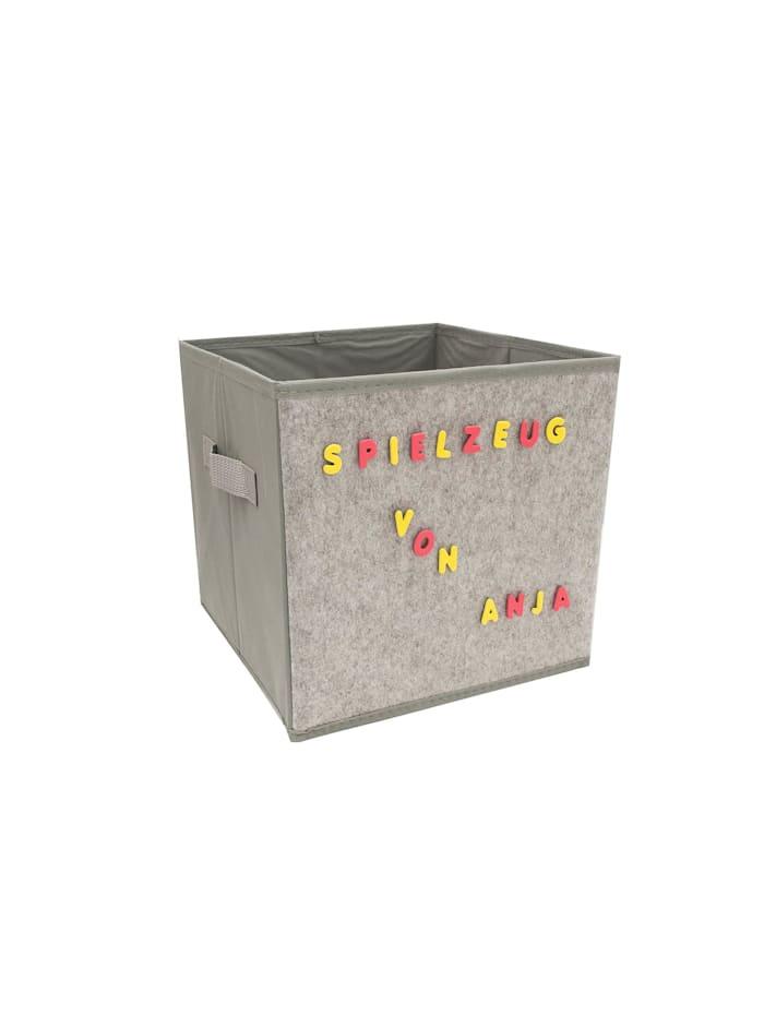 HTI-Line Aufbewahrungsbox mit Buchstaben Paloma, Grau