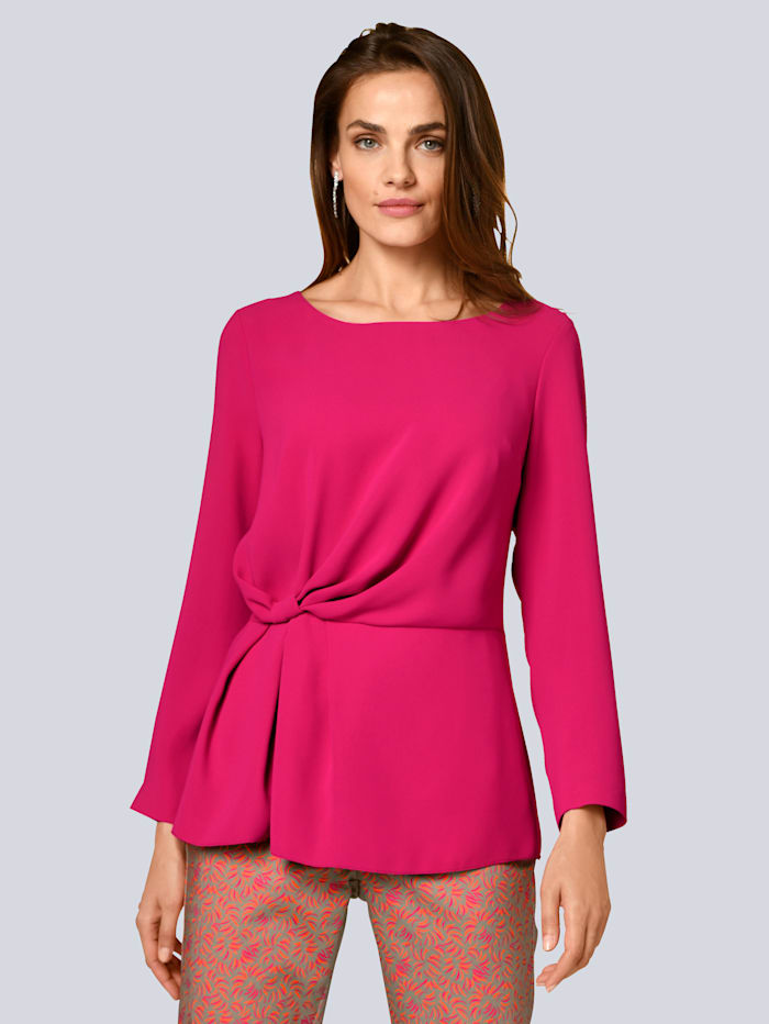 Alba Moda Bluse mit Knotendetail, Pink