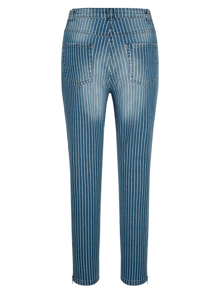 Jeans med stripetrykk