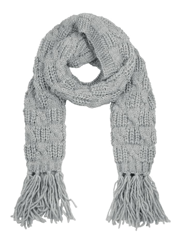 Seeberger Sjaal met wol, Grijs