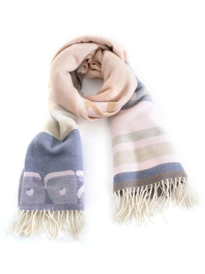 SPORTALM Schal aus kuschelger Qualität, Beige/Blau