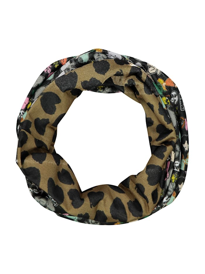 Codello Ultrasofte PEANUTS Loop-Maske mit Snoopy-Print, black