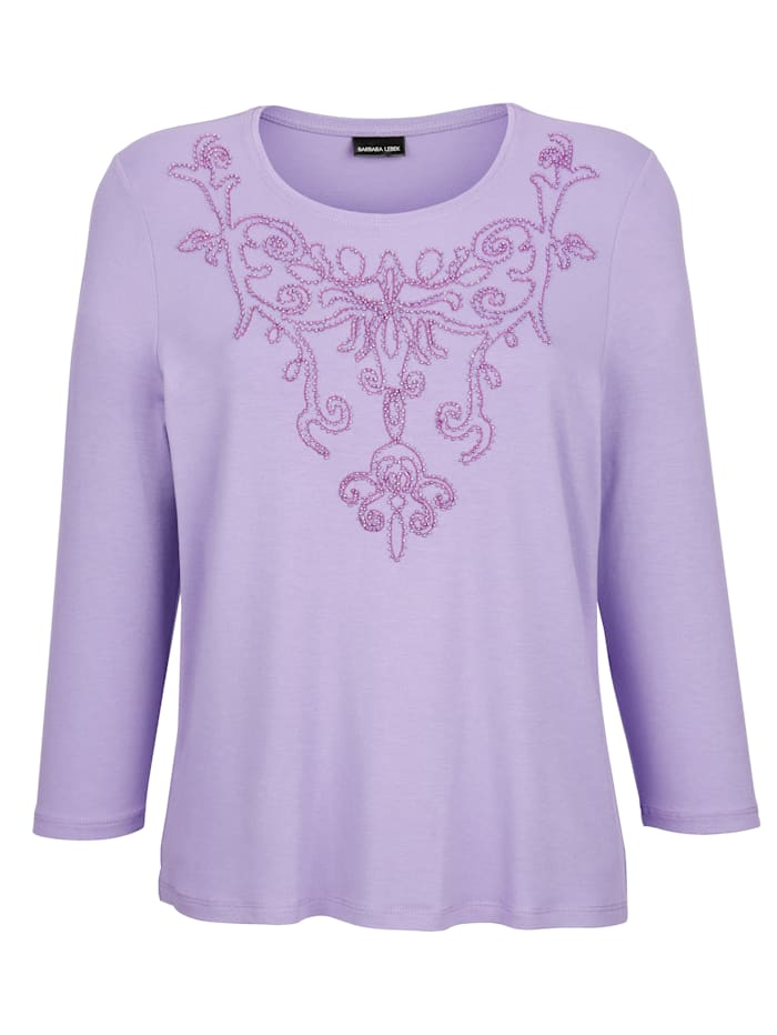 Shirt mit platziertem Perlen-Motiv