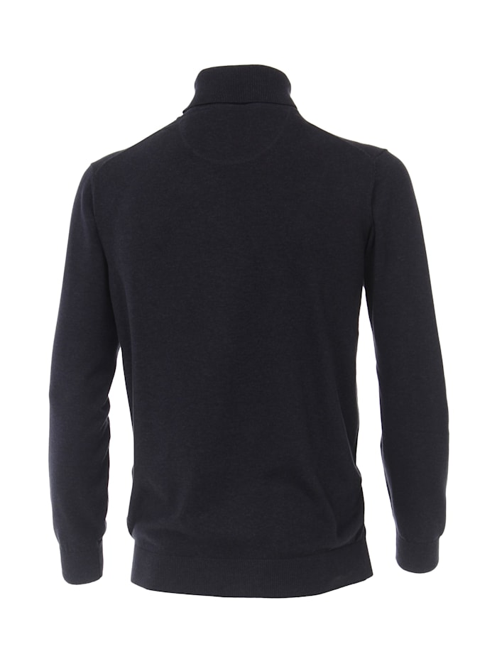 Rollkragen-Pullover uni