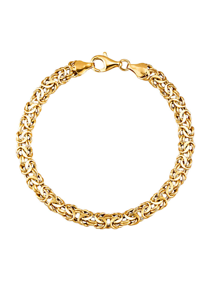 Königsarmband in Silber 925, Gelbgoldfarben