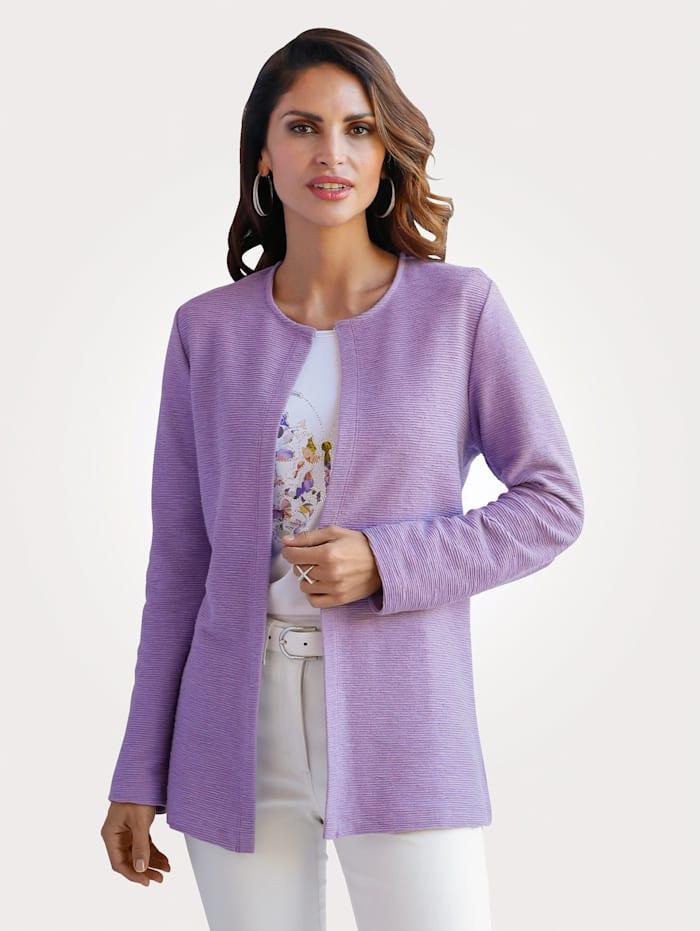 MONA Shirtjacke aus reiner Baumwolle, Lavendel