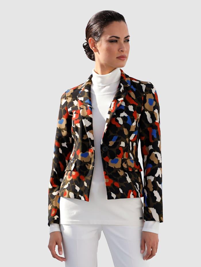AMY VERMONT Blazer mit modischem Druck, Multicolor