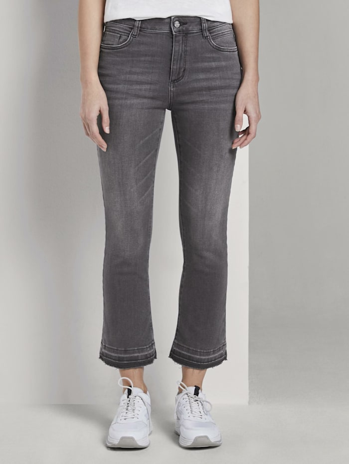Tom Tailor Kate Kick Flare Jeans, grey denim