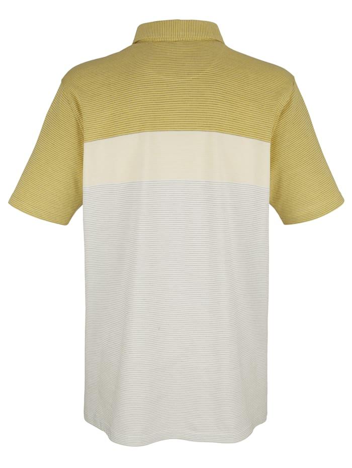 Poloshirt mit garngefärbtem Streifenmuster