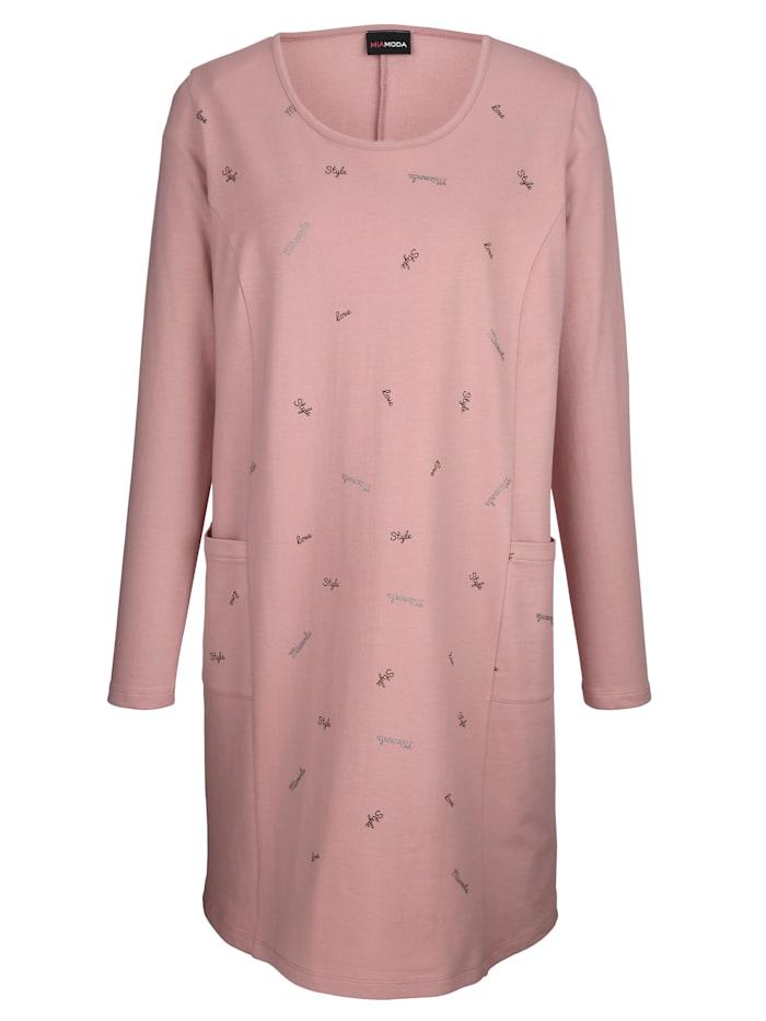 Kleid mit dezentem Wordingprint vorne
