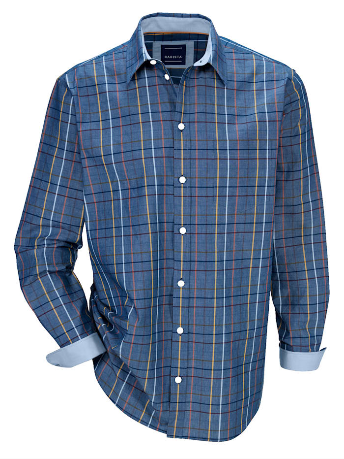 BABISTA Košile z čisté bavlny, Modrá/Žlutá