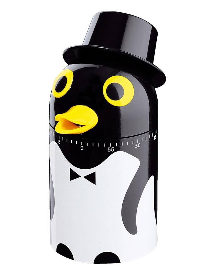 Küchenprofi Minuteur de cuisine 'Pingouin', Noir/blanc